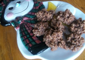 No Bake Chocolate Oatmeal Cookies for Santa