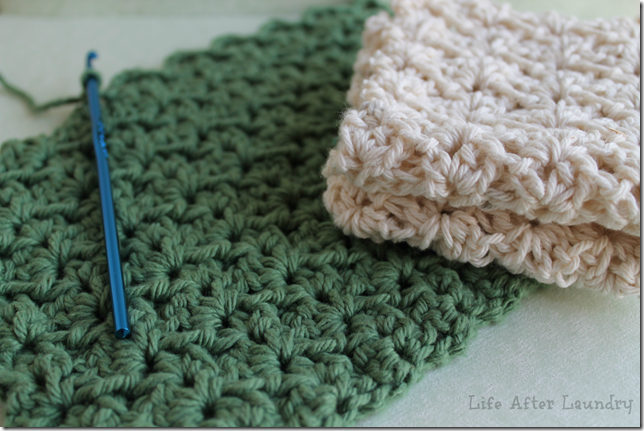 Crocheting Dishcloths : My Favorite Crocheted Dishcloth Tutorial - Life After Laundry