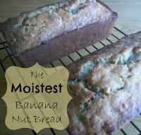 The Moistest Banana Nut Bread