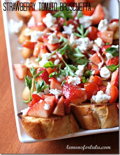 Strawberry-Tomato-Bruschetta