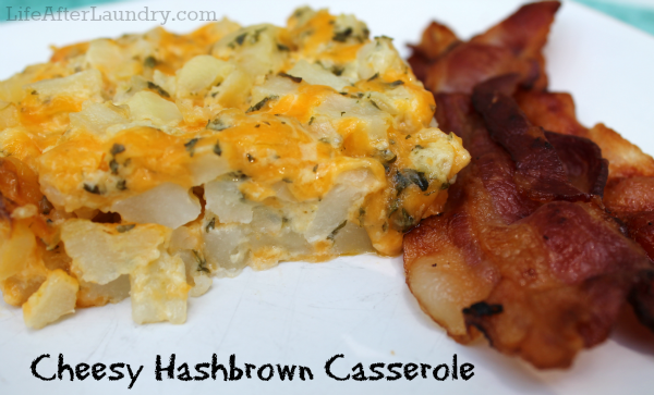 Cheesy Hashbrown Casserole from LifeAfterLaundry.com