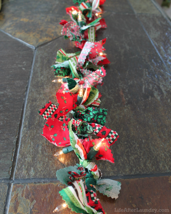 Scrappy Lighted Garland