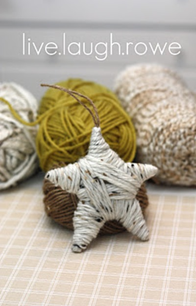 yarn star ornament_finished product