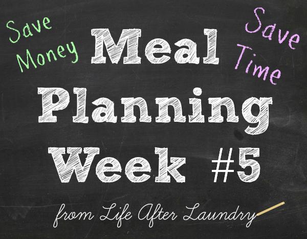 meal planning week # 5