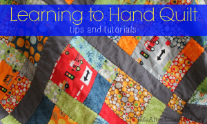 Learning to Hand Quilt