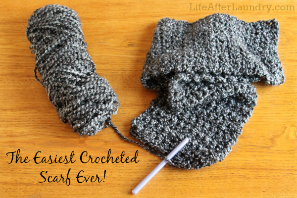 Homespun Yarn Crochet Patterns : The Easiest Crocheted Scarf Ever - Life After Laundry