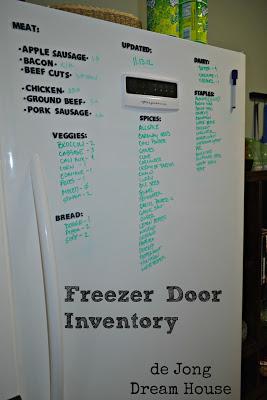 freezer door inventory