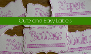 Cute and Easy Labels