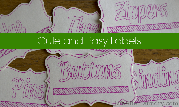 Cute and Easy Labels  LifeAfterLaundry.com