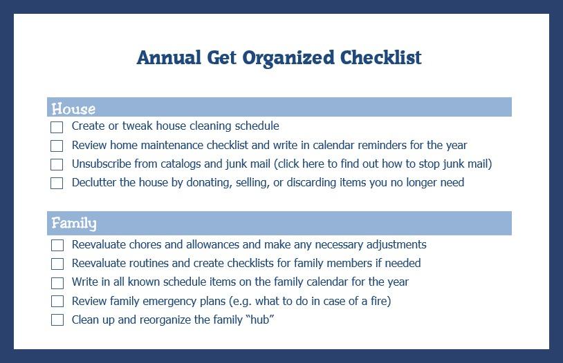 Organizing-Checklist