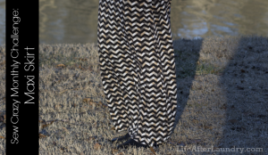 Sew Crazy Monthly Challenge Maxi Skirt