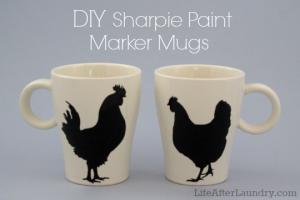 DIY Sharpie Paint Marker Mugs