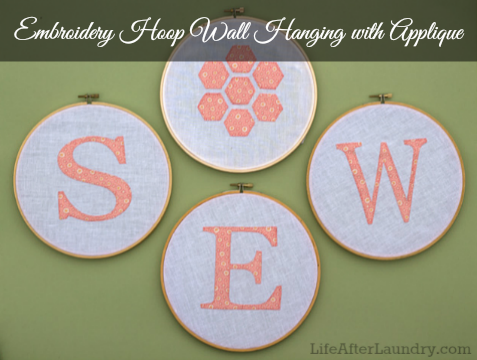 Sew cute applique wall hanging life after laundry