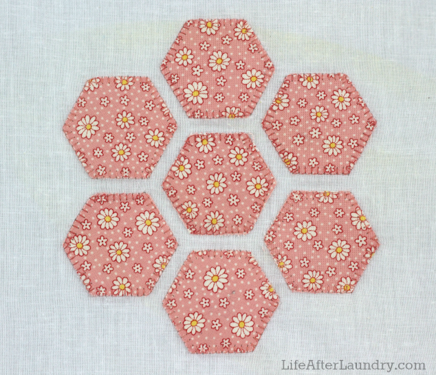 blanket stitch around applique shapes