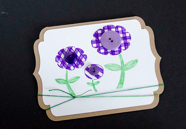 A Happy Spring Card  LifeAfterLaundry.com  #Cardmaking #Crafts #Spring #DIY