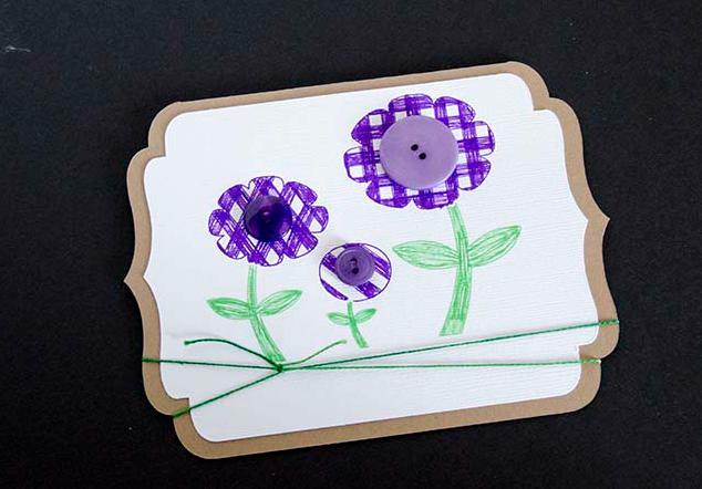 A Happy Spring Card  LifeAfterLaundry.com  #Cardmaking #Crafts #Spring #DIY