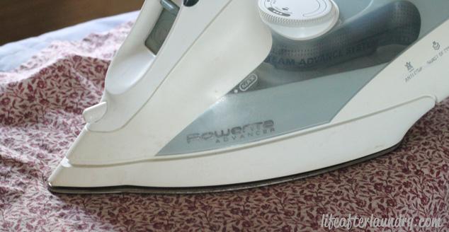 ironing on
