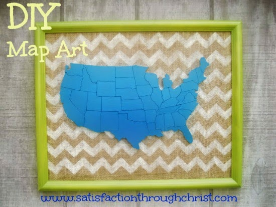 DIY map art STC