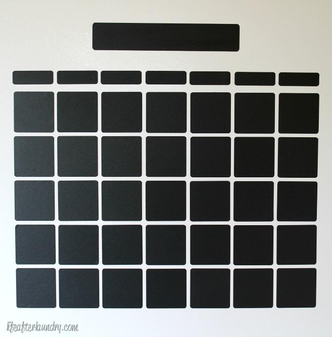 DIY Chalkboard Vinyl Calender by LifeAfterLaundry.com
