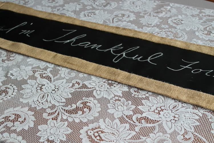chalkboard fabric table runner lifeafterlaundry.com