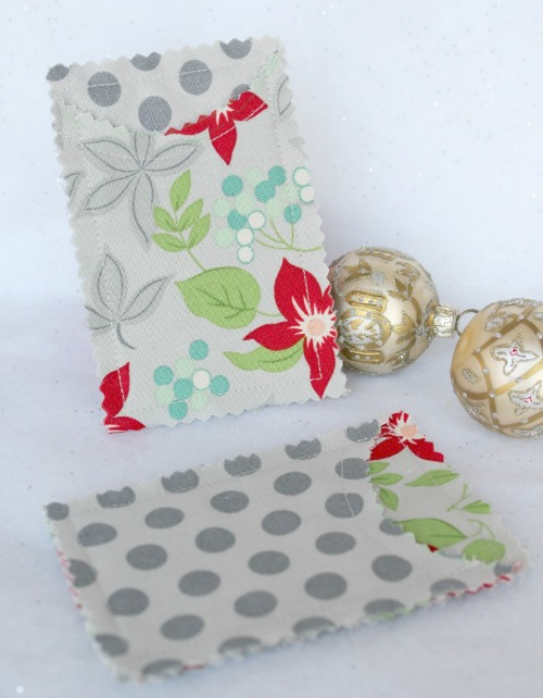 fabric gift card holder