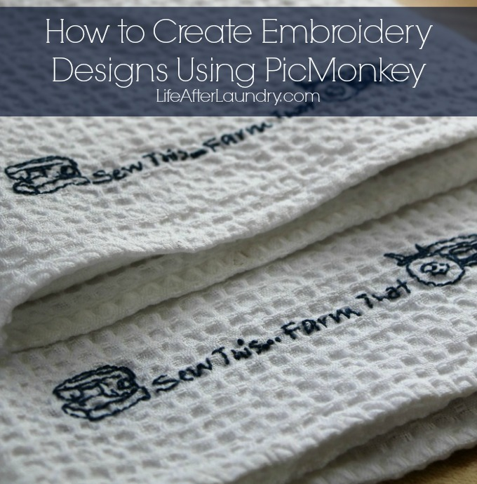 Craft Ideas- How to Create Embroidery Designs Using PicMonkey