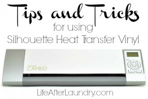 Tips and Tricks for using Silhouette Heat Transfer Vinyl