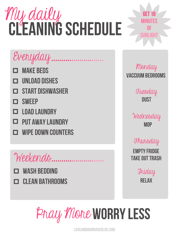 MyDailyCleaningSchedule