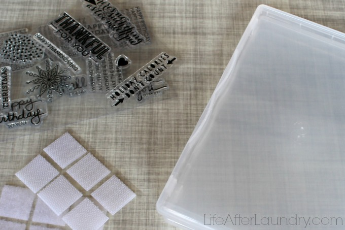 easy clear stamp storage