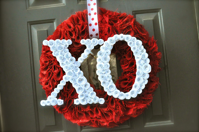 valentine burlap wreath idea craft