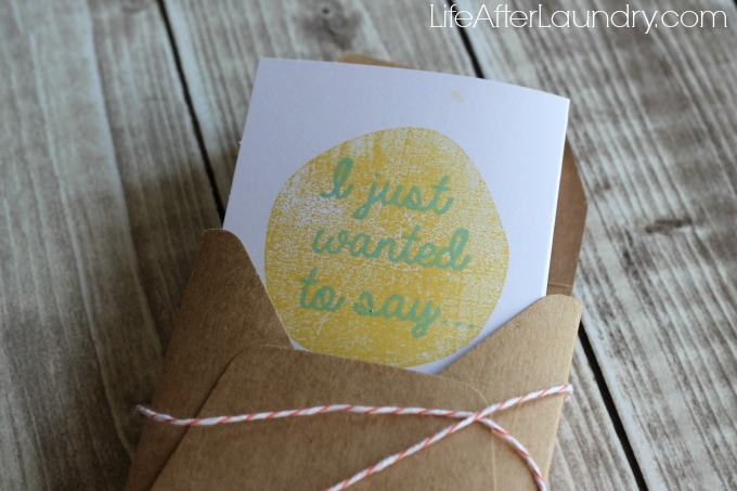 Layers of Gratitude envelope