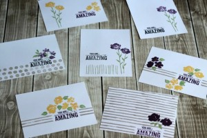 7 Amazingly Easy Cards Made With One Stamp Set