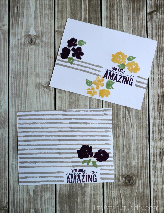 Painted Petal Cards via LifeAfterLaundry.com