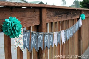 Simply Created Chalkboard Banner and Giveaway