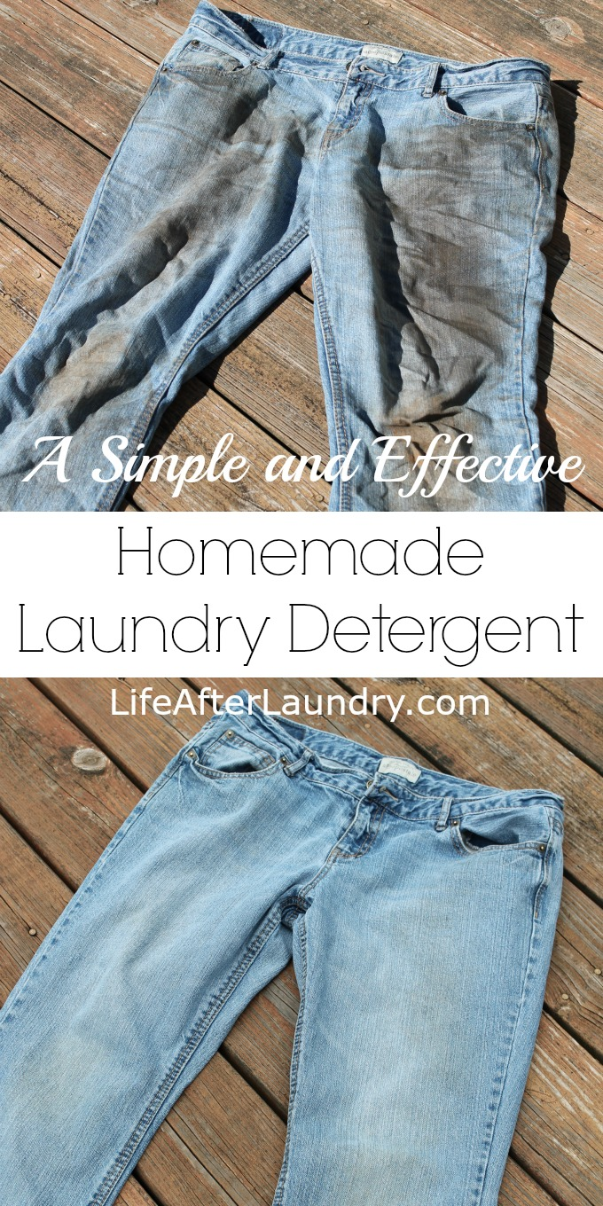 A Simple and Effective Homemade Laundry Detergent by LifeAfterLaundry.com