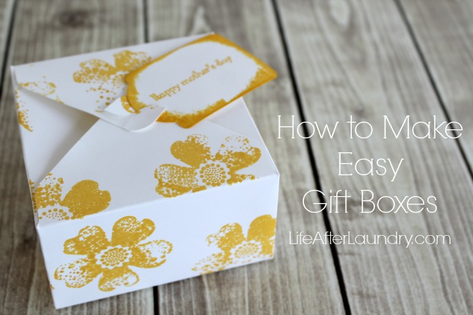 How to make easy gift boxes via LifeAfterLaundry.com