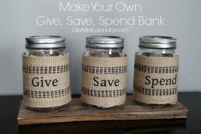 Make Your Own Give, Save, Spend Bank via LifeAfterLaundry.com