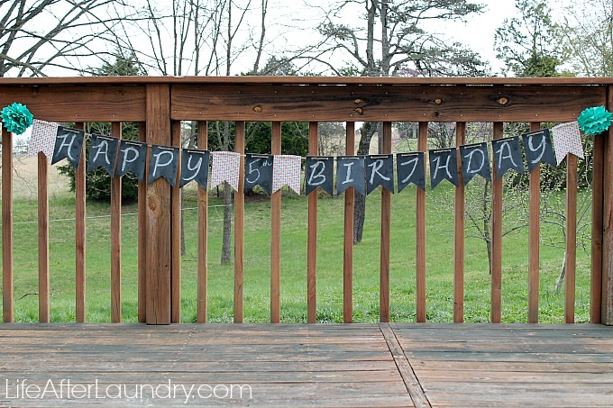 Simply Created Chalkboard Banner- Simple, Reusable, Adorable- lifeafterlaundry.com