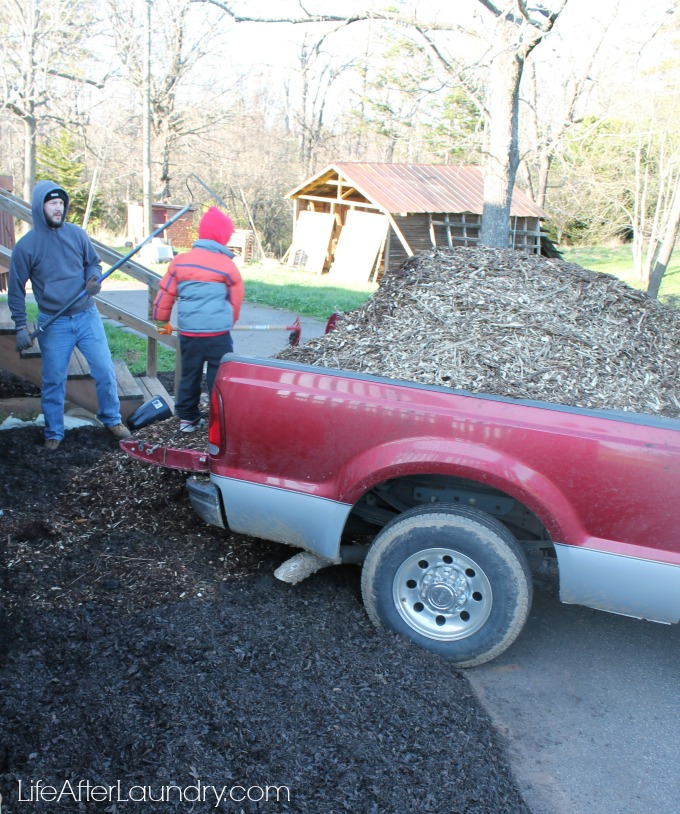 laying down compost