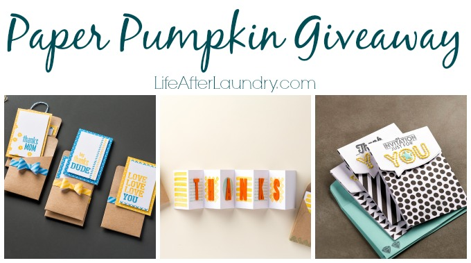 Paper Pumpkin giveaway from LifeAfterLaundry.com