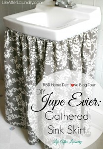 DIY Jupe Evier: Gathered Sink Skirt