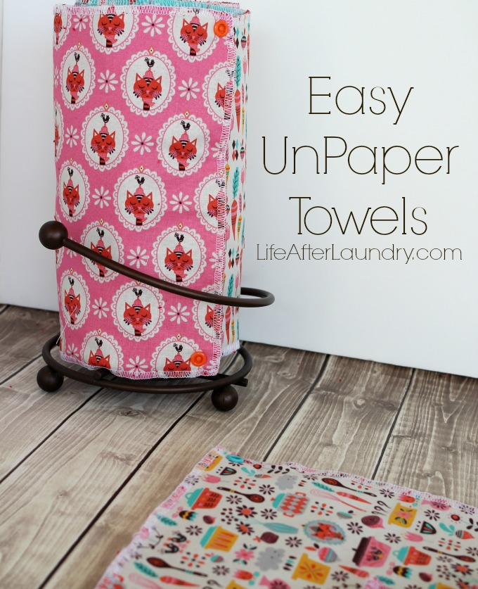 Easy UnPaper Towels by LifeAfterLaundry.com