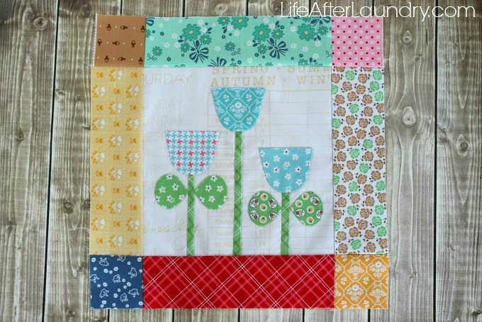 Bloom sew along block 12: tips for hand applique life after laundry