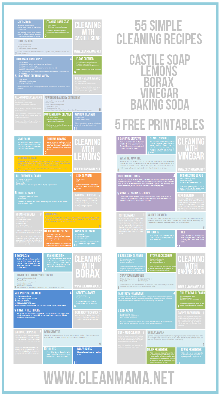 Free Cleaning Printables